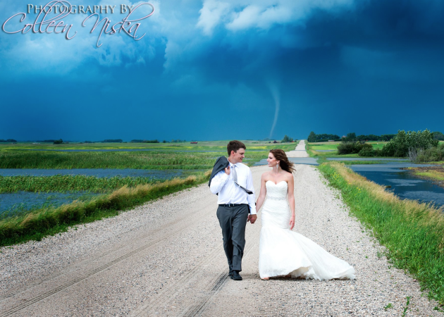 Tornado-Based Wedding Photo
