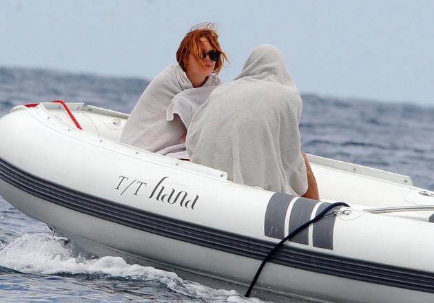 Lindsay Lohan Covers Up