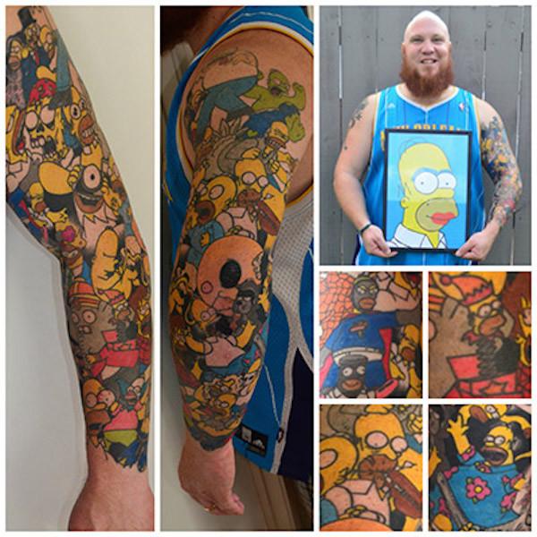 Homer Simpson Tattoos