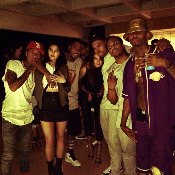 The Jenners and Chris Brown