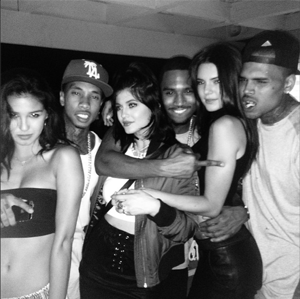 Kylie, Kendall, Tyga and Chris Brown