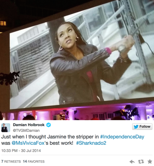 Sharknado 2 On Twitter Who Said What Vivica A Fox Shout Out