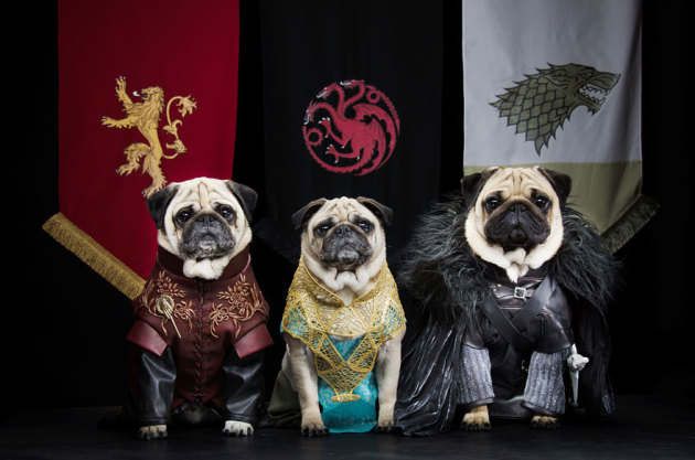 Tyrion Lannister, Daenerys Targaryen and Jon Snow