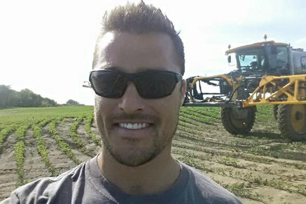 Chris Soules on the Farm