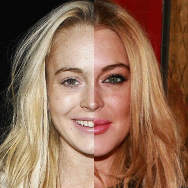 Lindsay Lohan 29 Celebrities With and Without Makeup
