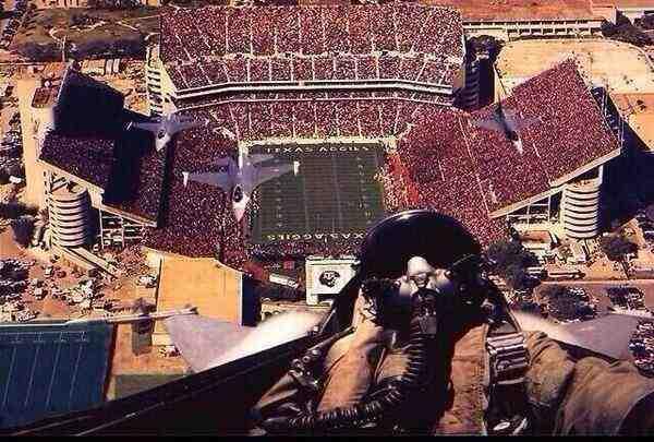 Football Flyover Selfie