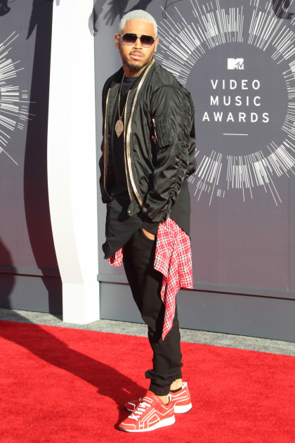 Chris Brown at the 2014 VMAs