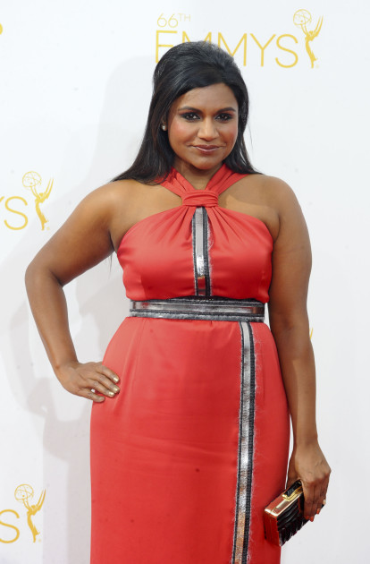 Mindy Kaling at the 2014 Emmys