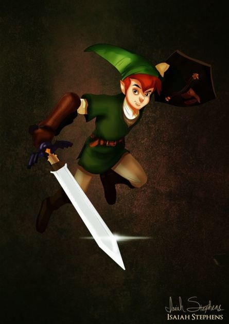 Peter Pan as Link
