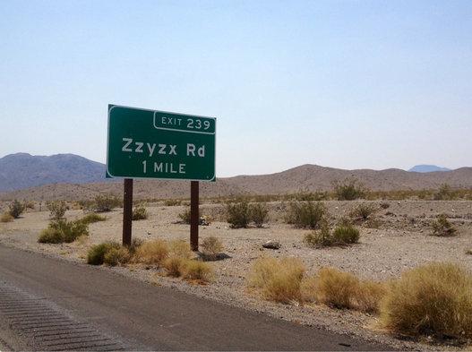 Zzyzx Rd.