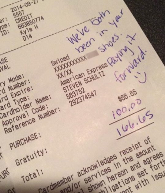 Big Tip For Terrible Service