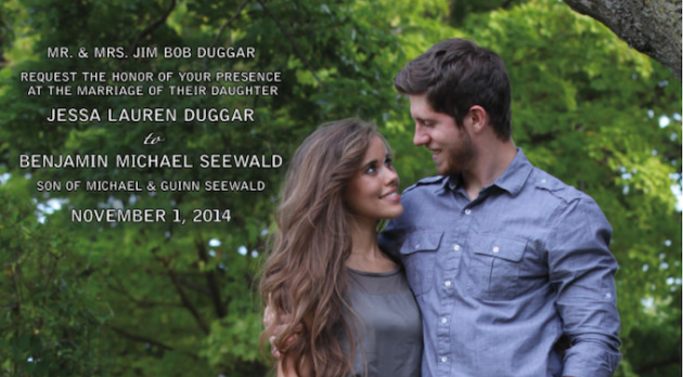 Jessa Duggar Wedding Invitation