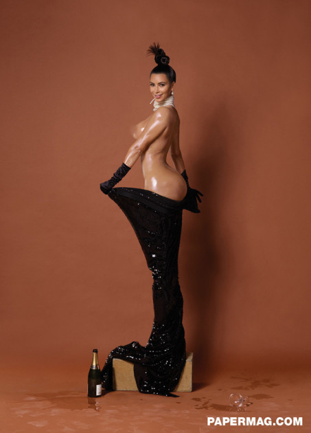 Kim Kardashian: Naked for Paper