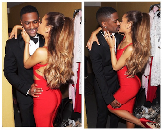 Ariana Grande and Big Sean Kissing