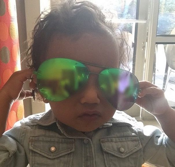 North West in Sunglasses