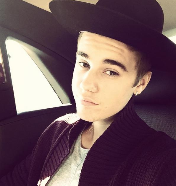 Justin Bieber in a Hat