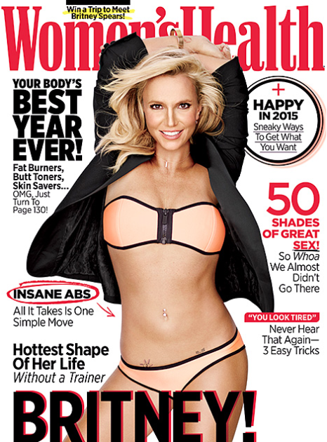 Britney Spears Women's Health Cover
