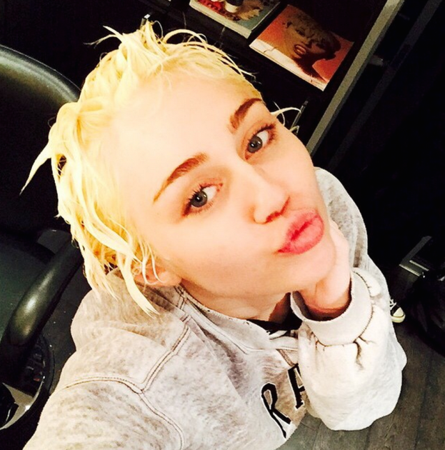 Miley Goes Blonde