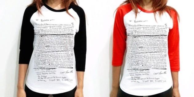 Kurt Cobain Suicide Note Shirts