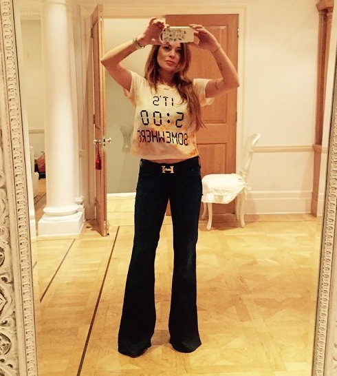 Lindsay Lohan Booze Shirt Photo