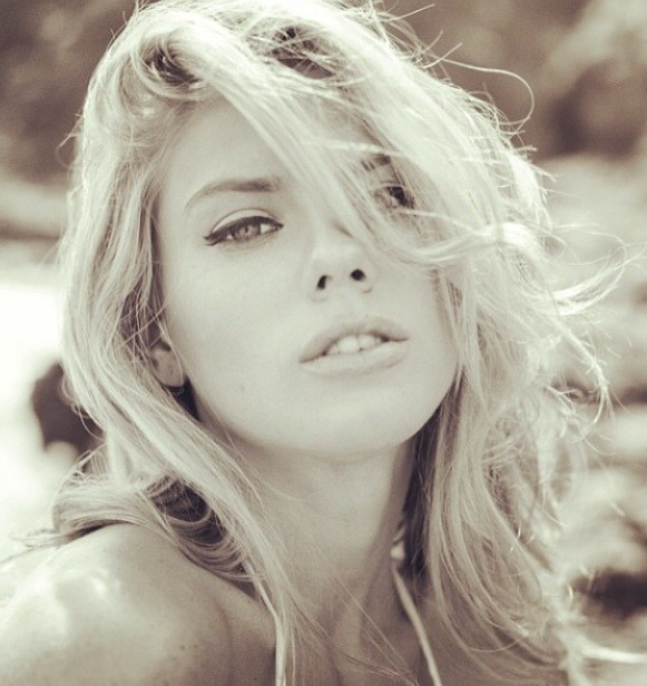 Charlotte McKinney Black and White