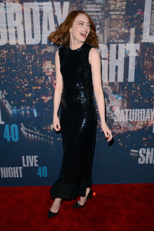 Emma Stone at SNL 40
