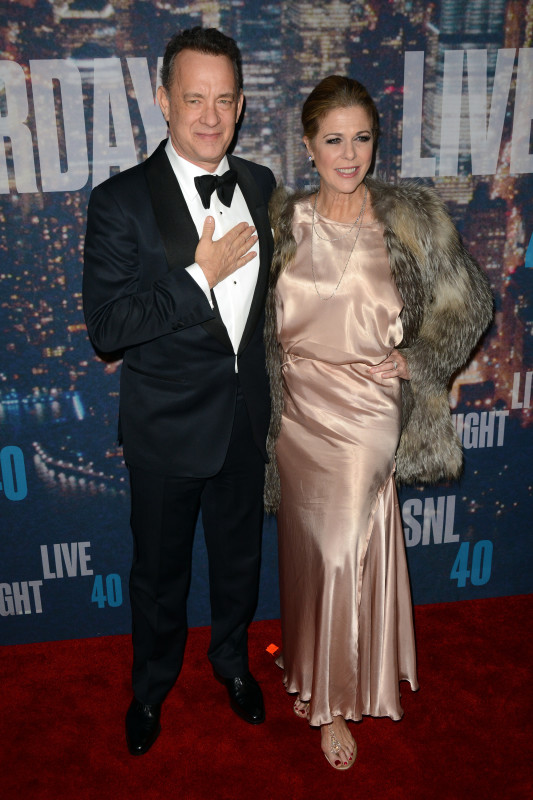 Tom Hanks and Rita Wilson at SNL 40