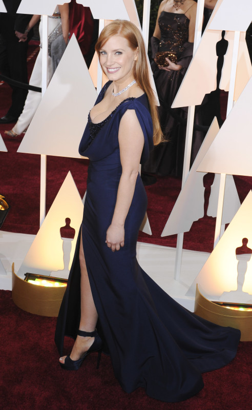 Jessica Chastain at the 2015 Oscars