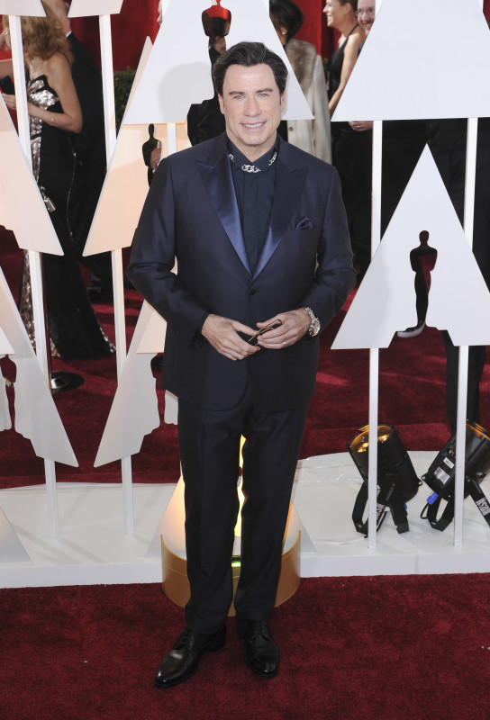 John Travolta at the 2015 Oscars