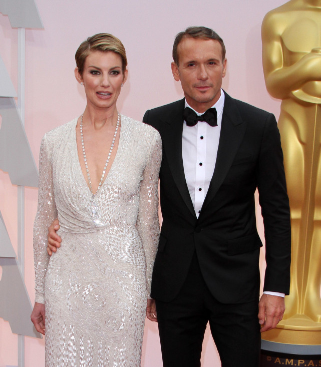 Faith Hill and Tim McGraw at the Oscars