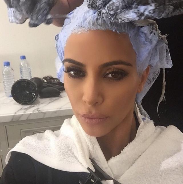 Kim Kardashian at the Stylist