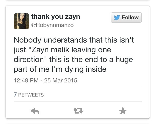 No One Understands...Except For You and Zayn