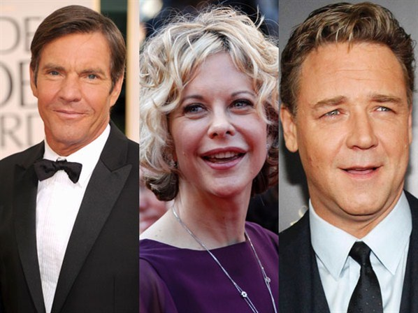 Dennis Quaid, Meg Ryan and Russell Crowe