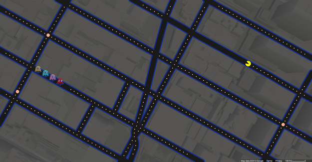 Pac-Man on Google Maps ...