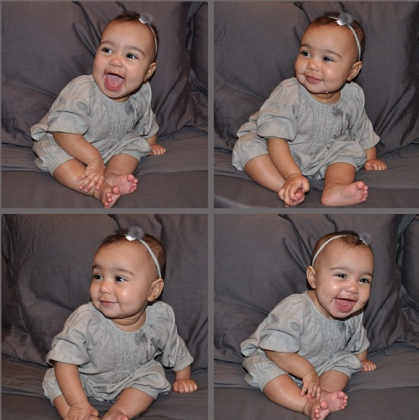 9 Totally Adorable North West Photos