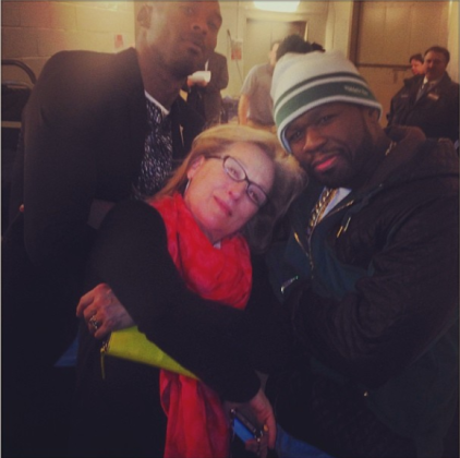 Meryl Streep: Gangsta with Fiddy and Kobe!