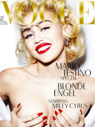 Miley Cyrus German Vogue Photos