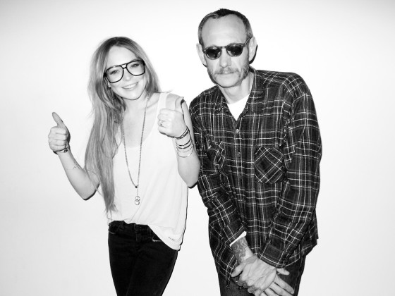 Lindsay Lohan Poses For Terry Richardson