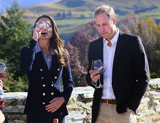 Kate Middleton Drinks Wine at Vineyard