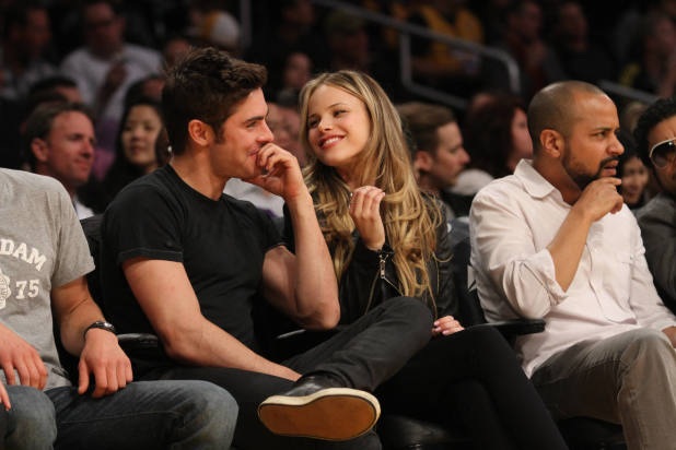 Halston Sage and Zac Efron Photos