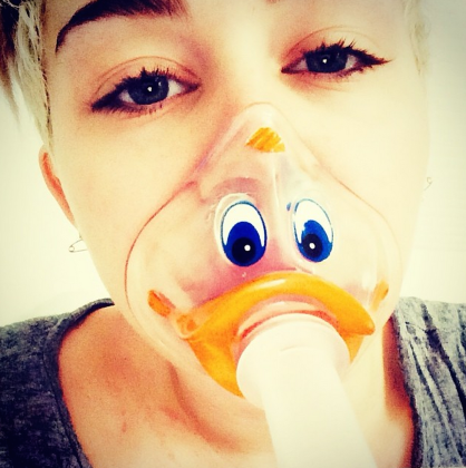 Miley Cyrus in the Hospital: All Quacked Up!