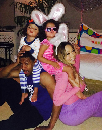 Mariah Carey and Kids on Easter