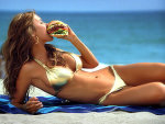 Audrina Patridge Burger Ad