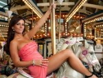 JWoww Gripping the Pole