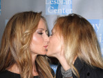 Chely Wright and Lauren Blitzer Kiss