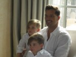 Ricky Martin and His Sons