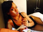 Rihanna Smoking in Bed