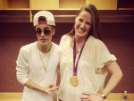 Missy Franklin and Justin Bieber