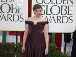 Lena Dunham at the Golden Globes