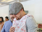 Channing Tatum Wears Daughter In Airport